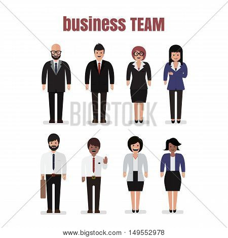 business teamwork Business Social Networking Vector illustration