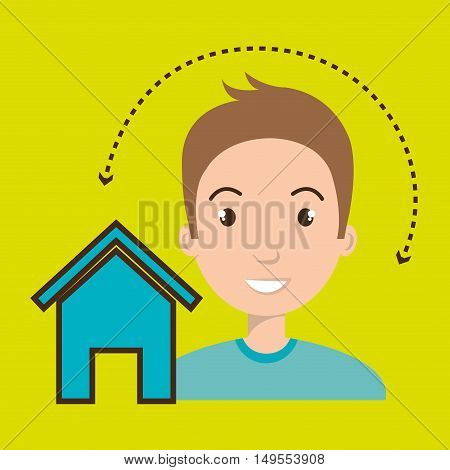 man home page web vector illustration eps 10