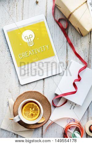 Creativity Design Ideas Bulb Innovation Concept