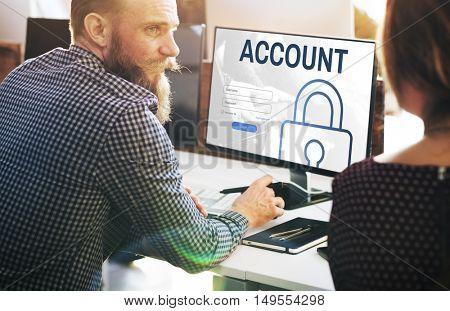Account Log In User Password Register Concept