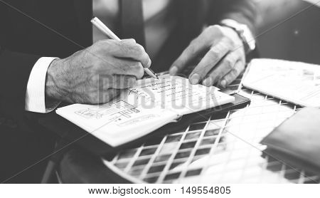 Writing Summary Analytics Information Business Meeting Concept