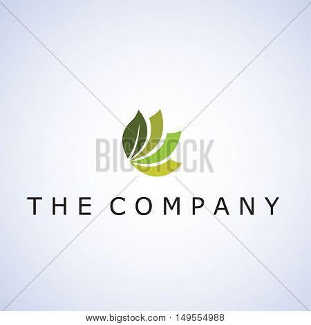 leaf ideas design vector illustration on background