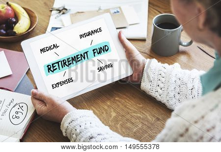 Retirement Fund Investment Diagram Concept