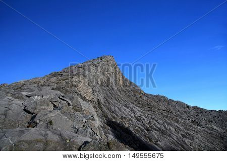 Low's peak 4095.2m asl, the highest peak of Mount Kinabalu Sabah, Borneo Malaysia