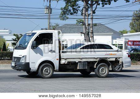 CHIANGMAI, THAILAND -DECEMBER 13 2015: Private Tata City Giant Mini truck. On road no.1001, 8 km from Chiangmai city.