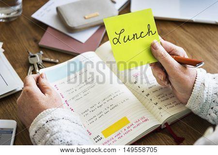 Lunch Planner Agenda List Concept