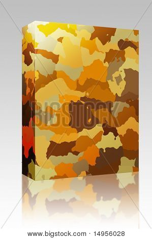 Software package box Camouflage pattern autumn desert colors design graphic wallpaper texture