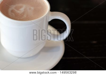 chocolate, cocoa, coffee is beverage for work hard in the morning