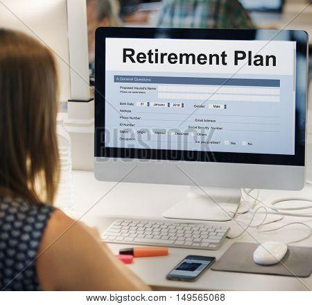 Retirement Plan Financial Help Concept