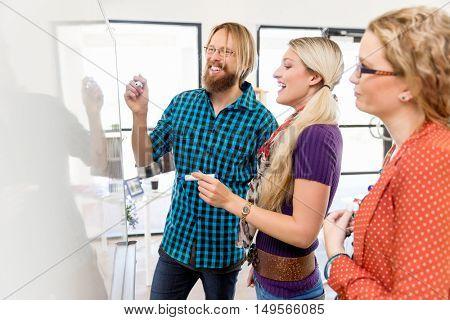 Presentation in office