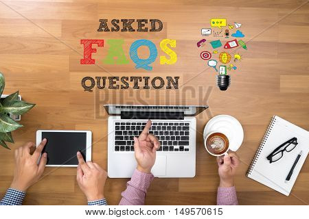 Frequently Asked Questions Faq Feedback  Concept