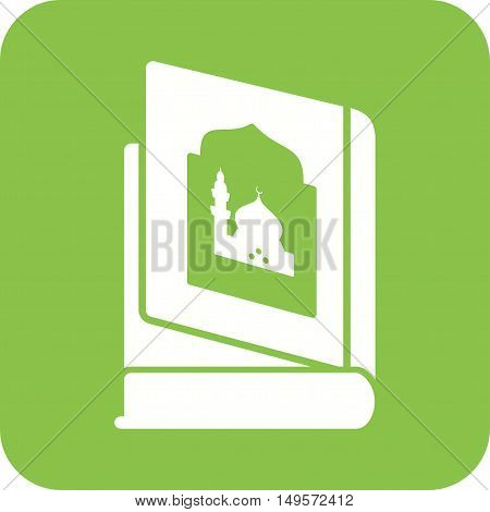 Religious, books, old icon vector image.