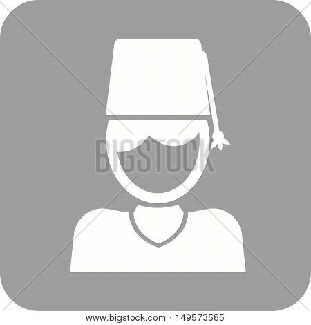 Turkish, man, hat icon vector image. Can also be used for islamic.