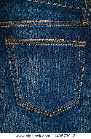 Blue jeans texture background