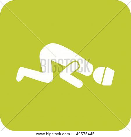 Islamic, namaz, sajdah icon vector image. Can also be used for islamic.
