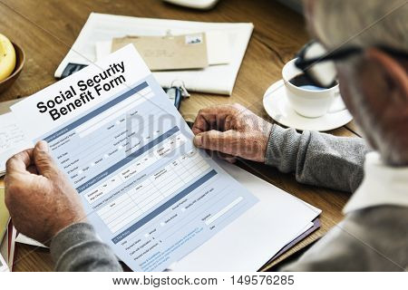 Social Security Benefit Form Concept