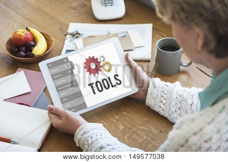 Tools Settings Configuration Setup Concept