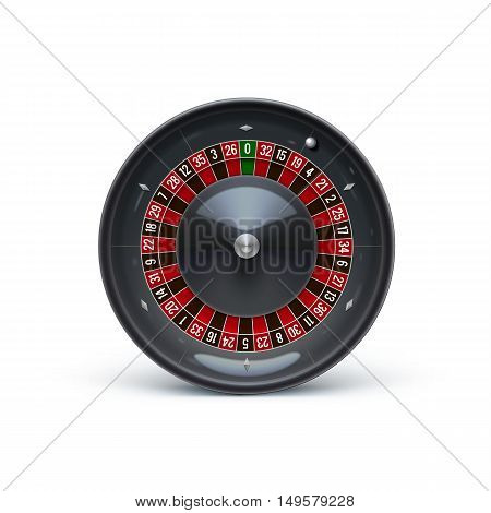 vector illustration of roulette isolated on white realistic casino object