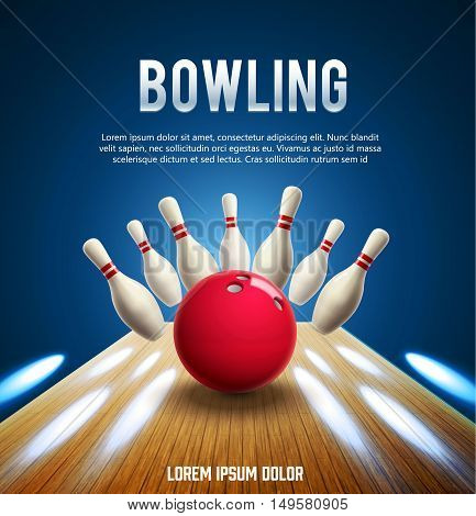 illustration of bowling realistic theme eps 10