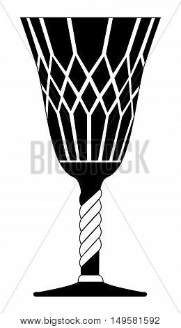 Gothic Goblet Vector Symbol Icon Design.