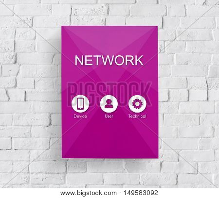 Network Website Data Application Concept