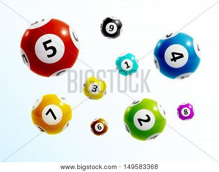illustration of ball lottery numbers 3d eps 10