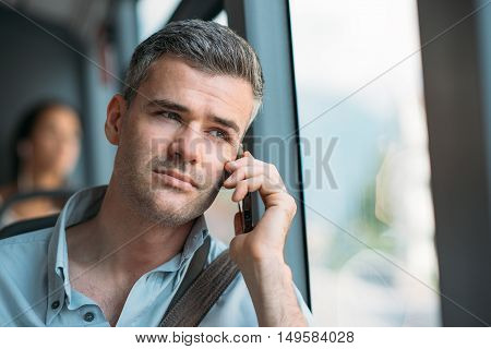 Businessman Commuting To Work