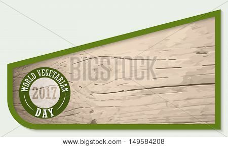 Vector frame for your text and wooden background