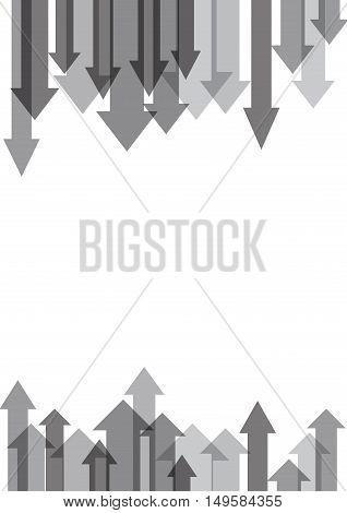 Vector gray arrows background in flat design