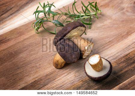 Rosemary With Boletus