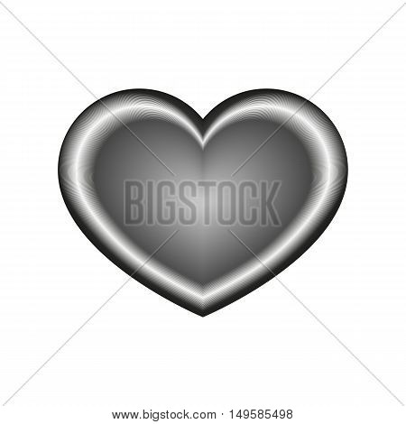 Unusual Heart Icon. Unusual Heart Vector Isolated On White Background. Flat Vector Illustration In B