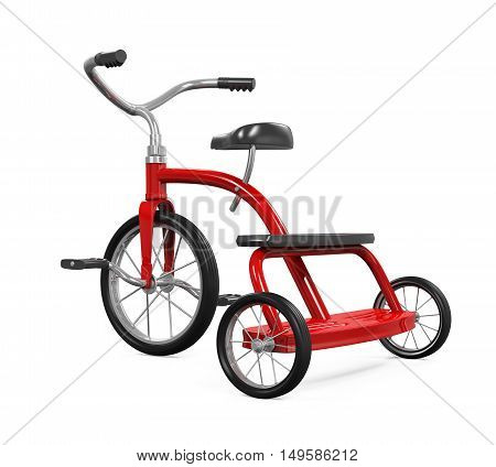 Kids Tricycle isolated on white background. 3D render