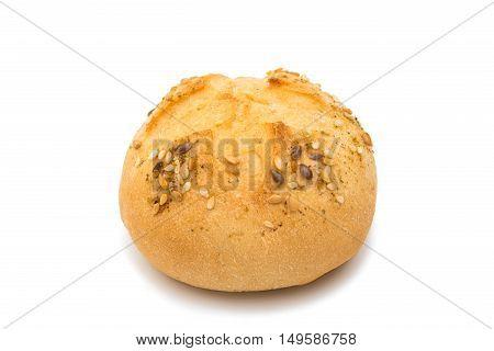 French rolls studio, breakfast, sesame on a white background