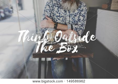 Think Outside The Box Thoughts Graphic Concept