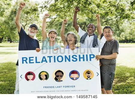 Friendship Togetherness Relationship Diversity People Concept