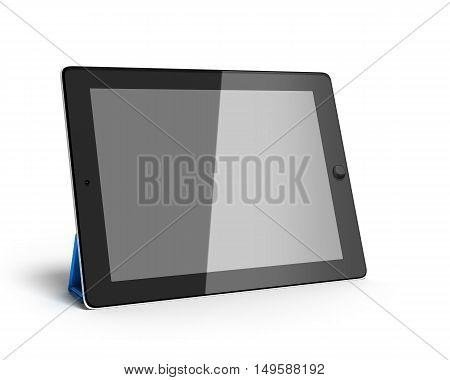 Digital Tablet 3D Render Isolated On White