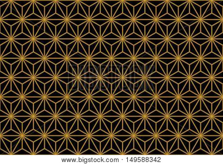 Art Deco Monochrome Gold Seamless Wallpaper or Background