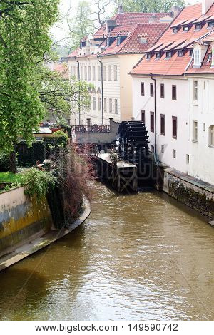 Travel in Prague - Kampa island Certovka (Devil's Stream) Grand Prior's Mill