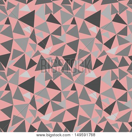 Triangle seamless pattern. Fashion graphic background design. Modern stylish abstract texture. Colorful template for prints textiles wrapping wallpaper website. VECTOR illustration