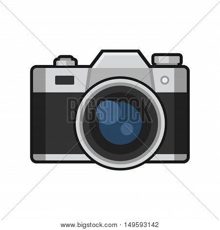 Retro Photo Camera Icon on White Background. Vector illustration