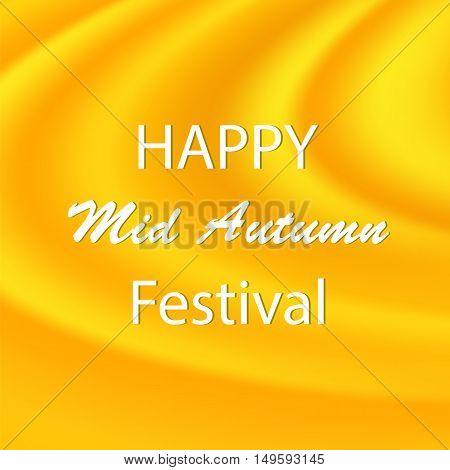 Happy Mid Autumn Modern Wave Yellow Backgound.