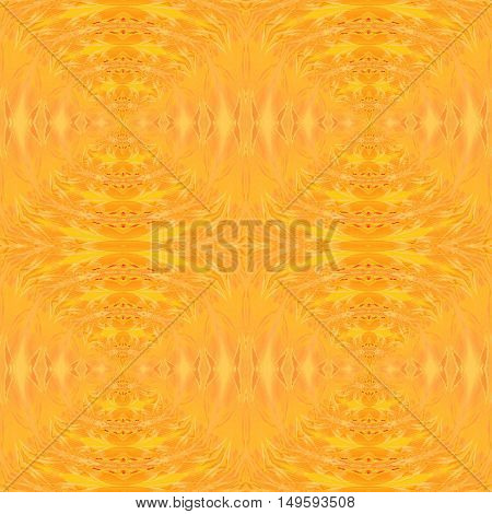 Abstract geometric seamless background. Regular bright yellow orange circles pattern, ornate and extensive.