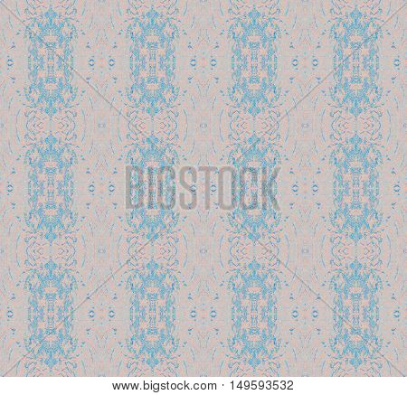 Abstract geometric seamless vintage background. Regular delicate ornaments light blue and pink and light gray.