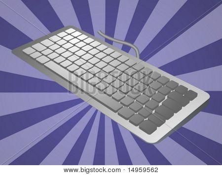 Computer keyboard peripheral hardware device illustration sketch