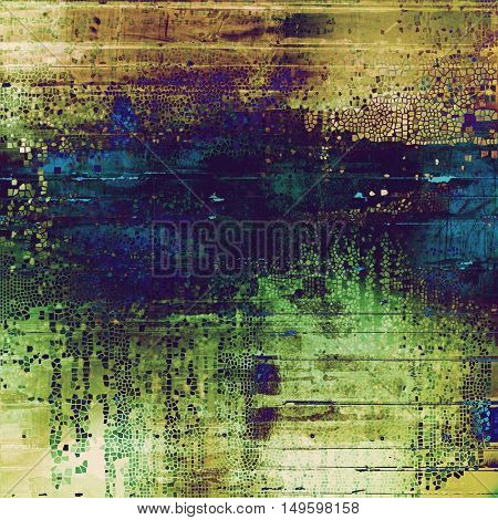 Shabby texture or background with classy vintage elements. Grunge backdrop with different color patterns: yellow (beige); brown; gray; green; blue; purple (violet)