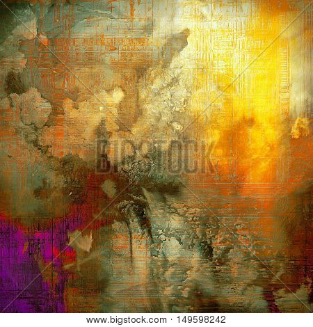 Grunge vintage template or antique background with different color patterns: yellow (beige); brown; gray; green; red (orange); purple (violet)