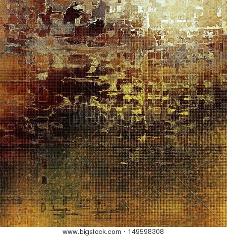 Elegant vintage background, grunge design template. Ancient texture with different color patterns: yellow (beige); brown; gray; green; red (orange)