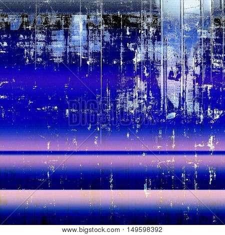 Grunge background for your design, aged shabby texture with different color patterns: blue; purple (violet); black; cyan