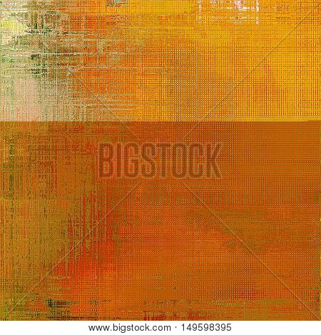 Abstract dirty texture or grungy background. With old style decorative elements and different color patterns: yellow (beige); brown; green; red (orange)