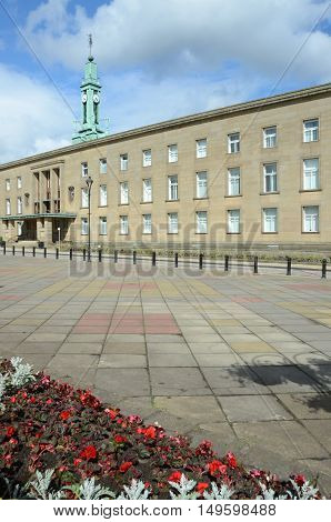 An external view of an official building in Kirkcaldy